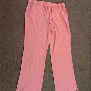 New York & Co peach linen /rayon pants-NWOT